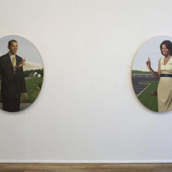 Kurt Kauper - Barack and Michelle Obama