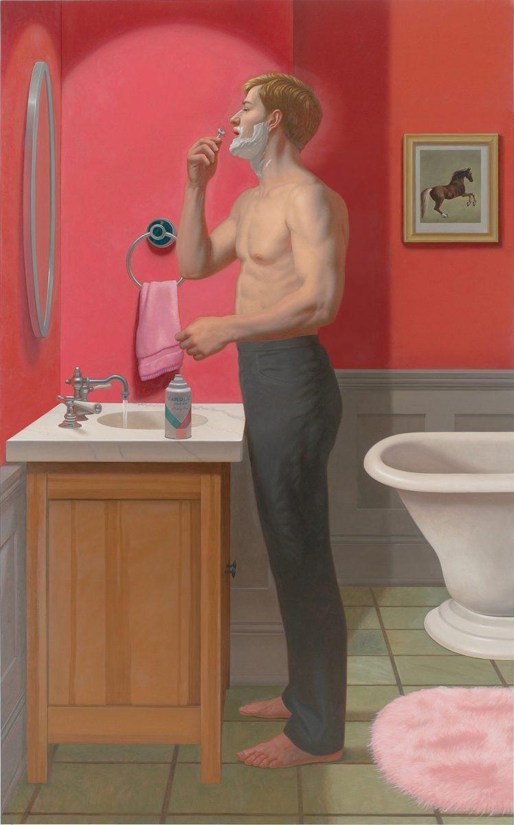Kurt Kauper Shaving Before the Game