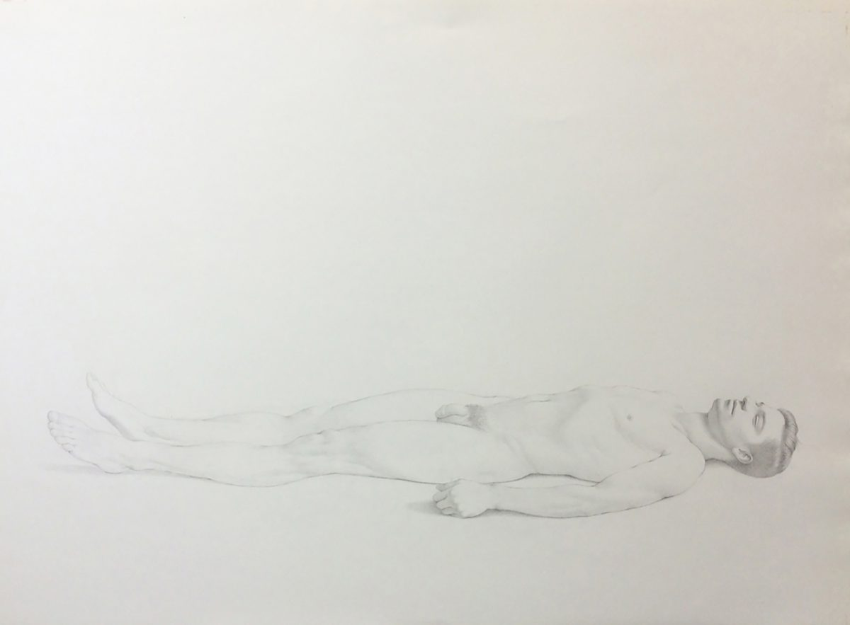 Kurt Kauper Study of Man Lying Down